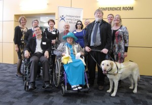 Group photo taken at presentation of LotteryWest cheque to Disability Equiptment Grant Program