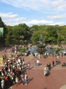 Angels of the Waters fountain and Bethesda Terrace, Central Park New York.