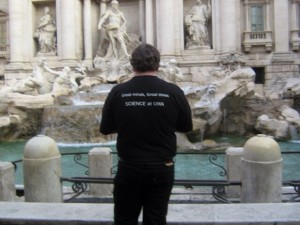 Photo of Greg looking at the Trevi Fountain - Rome