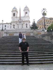 Photo of Greg at the Spanish Steps - Rome