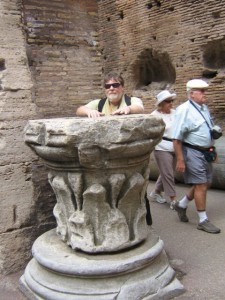 Photo of Greg at the Colosseum