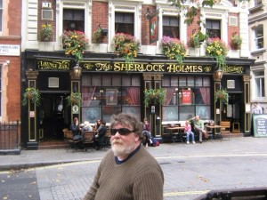 Photo of Greg at the Sherlock Holmes pub London