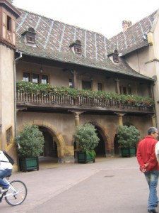 View of front of the Colmar Customs House in France