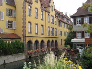 Colmar of the Alsace region in north-eastern France