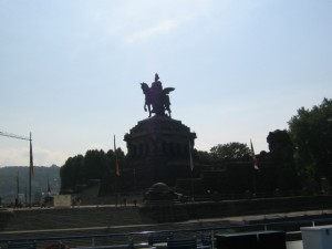 Photo of Statue of German Emperor Wilhelm the 1st where Rhine and Mosel meet at Koblenz