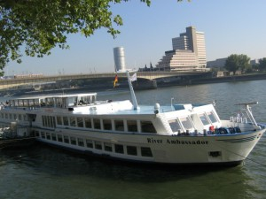 "View of ""The River Ambassador"" our boat for the Rhine River cruise"