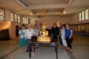 Photo of our group members with Golden Buddah