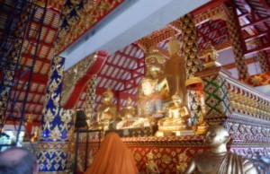 Photo of Golden Buddah inside WAT SUAN DOK Temple