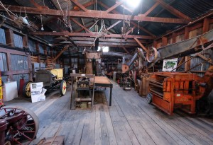 Photo of machinery display Museum at Clyde near Queenstown