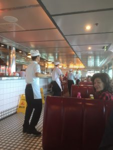 The dancing waiters at Johnny Rockets