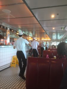 Dancing waiters at Johnny Rockets