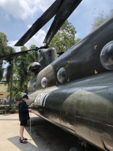 Photo of Chinook helicopter at the War Museum in Ho Chin Minh