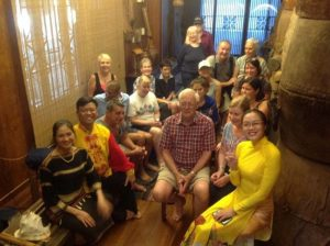 Our group at the home of a traditional Vietnamese musician